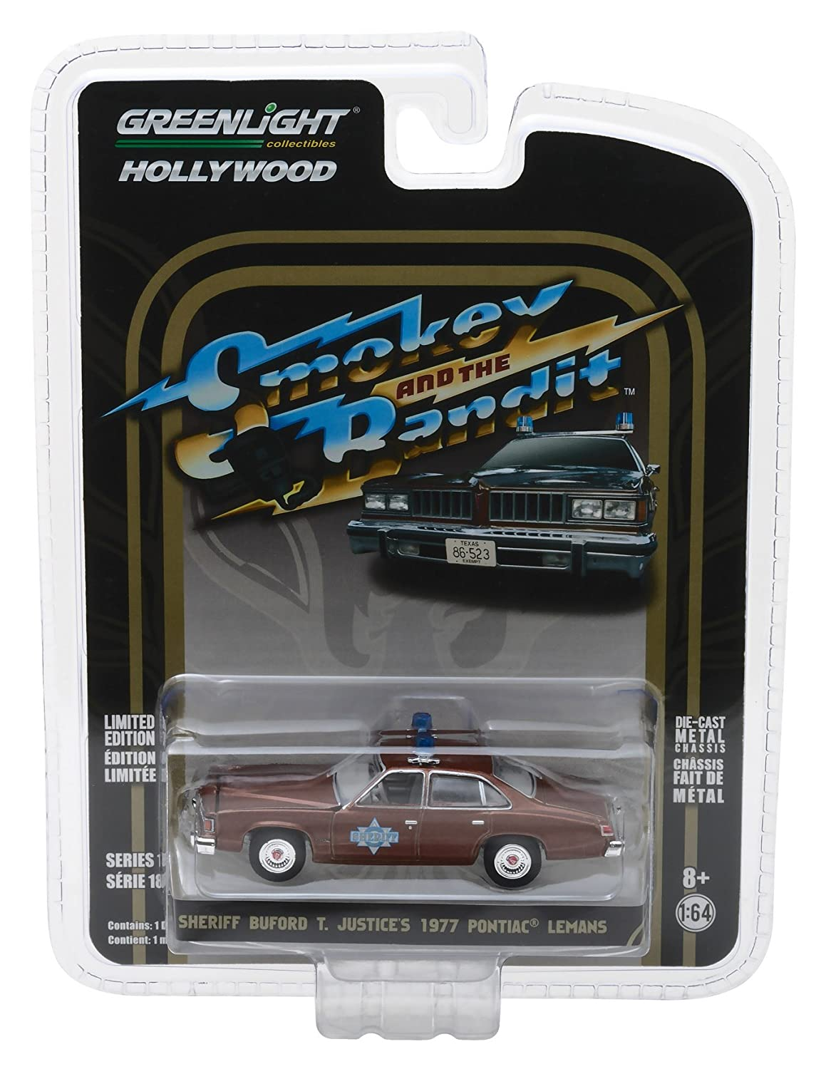 Greenlight 1 64 Hollywood Series 18 Smokey and The Bandit Sheriff Buford T Justice's 1977 Pontiac Lemans