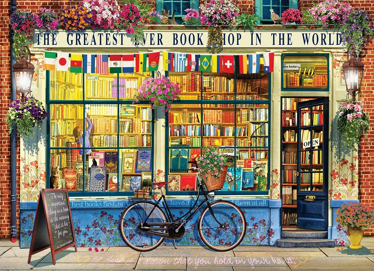 Worlds Greatest Bookstore 1000pc Puzzle