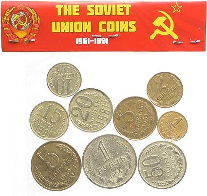 LOT OF 10 SOVIET UNION RUSSIA USSR 20 KOPEK KOPEKS COINS 1961-1991 CCCP