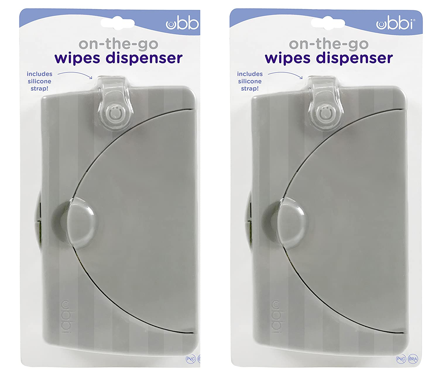 Ubbi On The Go Gray Wipe Holder Baby Gifts, Set of 2 Pearhead 10173