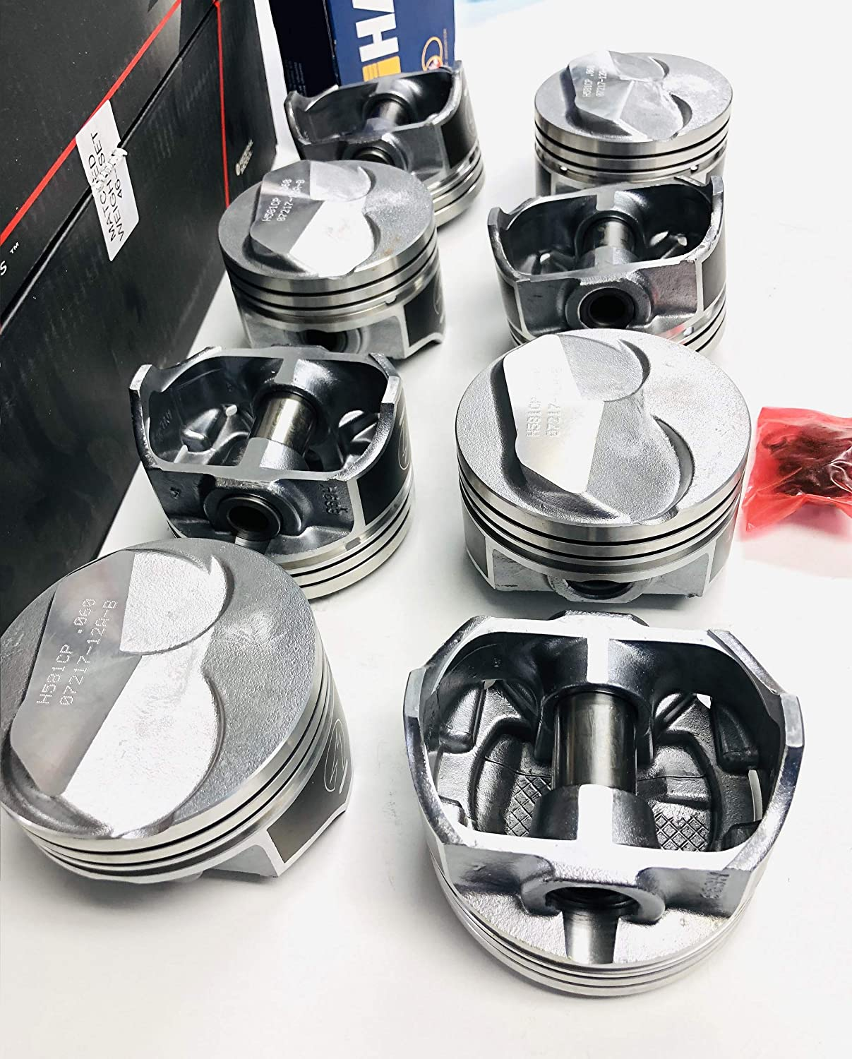 60 Chevy 454 Speed Pro Hypereutectic Flat Top Floater Pistons+MOLY Rings Set