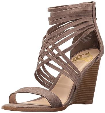 Fergalicious Women's Hunter Wedge Sandal, Doe, ...