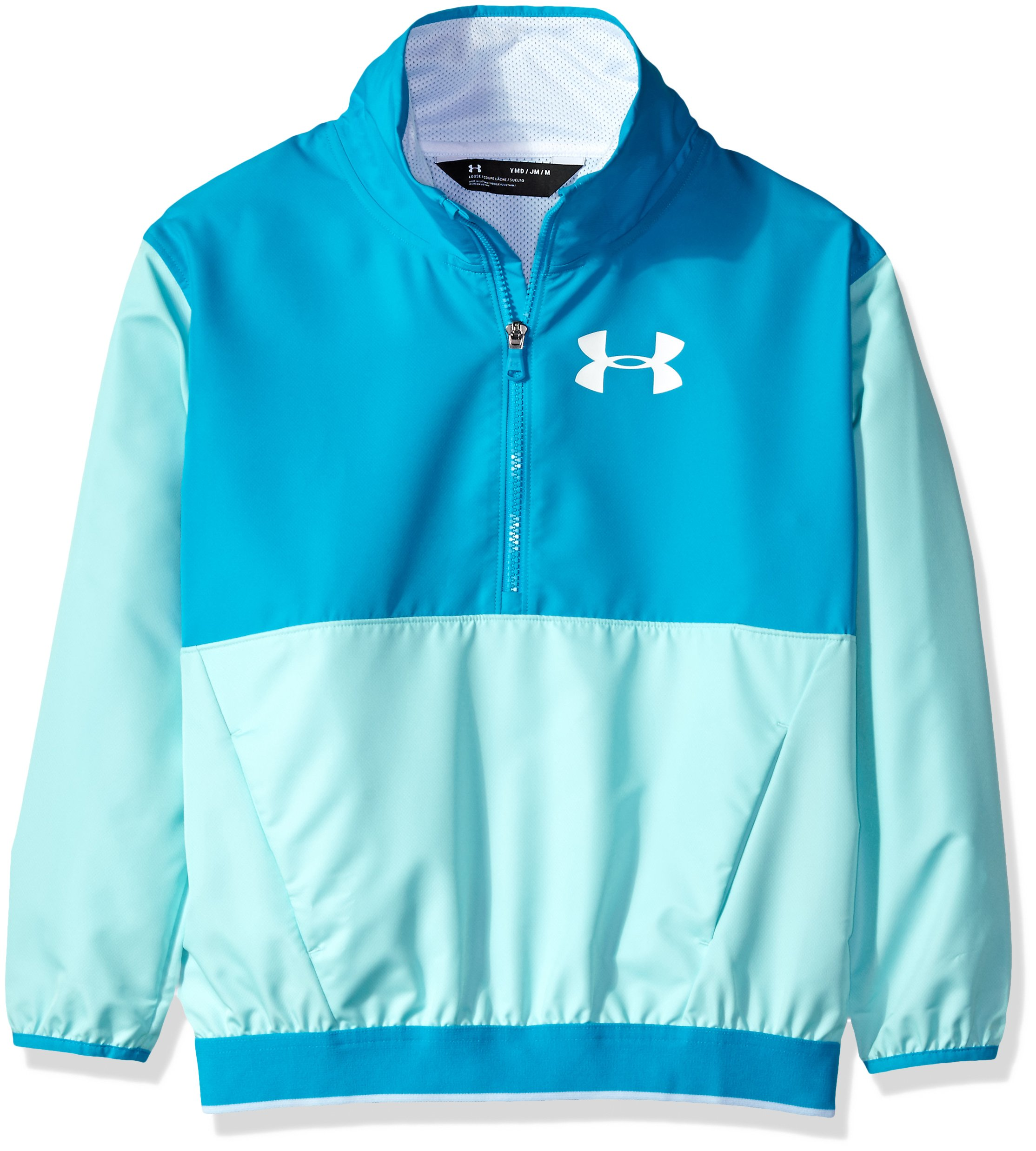 Under Armour Girls' Boat House Jacket,Blue Infinity (942)/White, Youth Medium by Under Armour