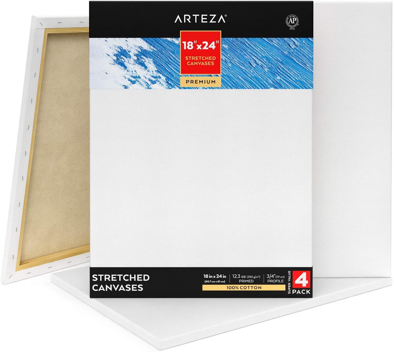 Art 20 x 16 Staple Back Stretched Canvas  Anya Art Abstract Acrylic With Metallic  Pour Painting