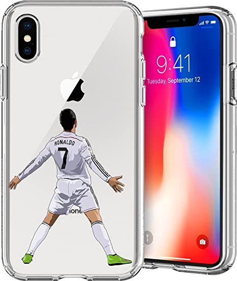 newest 25fb4 b42a7 Amazon.com: Chrry Cases iPhone X (5.8) Case, [Soccer Series] Ultra ...