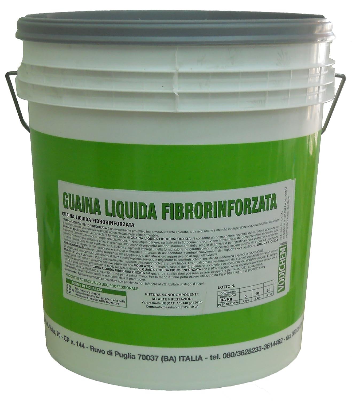 GUAINA LIQUIDA FIBRORINFORZATA GRIGIA KG.20: Amazon.it: Fai da te