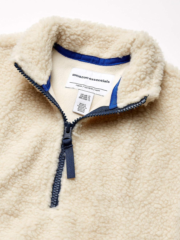 Essentials Boys Quarter-Zip High-Pile Polar Fleece Jacket