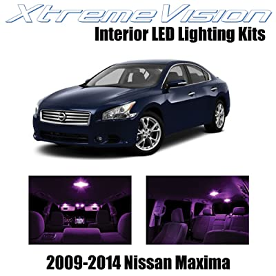 Xtremevision Interior LED for Nissan Maxima 2009-2014 (14 Pieces) Pink Interior LED Kit + Installation Tool: Automotive