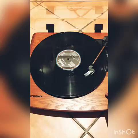 Musitrend platine vinyle tourne disque trois vitesse 33 - Tourne disque avec haut parleur integre ...