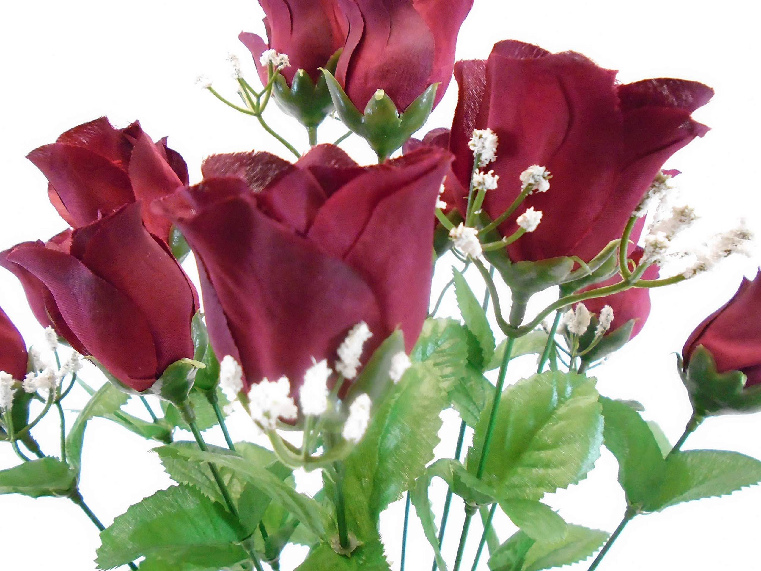 Phoenix-Silk-Rose-Buds-Bush-14-Artificial-Flowers-19-Bouquet-265