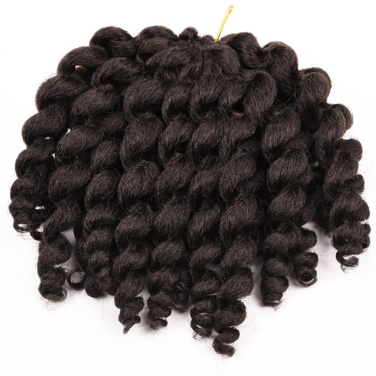 Silike JUMPY Wand Curl Crochet Hair (3 Pieces/Pack) Havana Mambo Crochet Braids Synthetic Hair For Women(4#)
