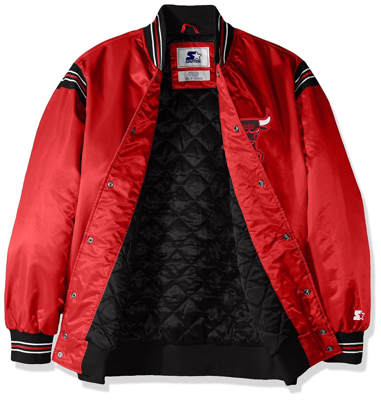 Large Starter Adult Men The Enforcer Retro Satin Jacket Red