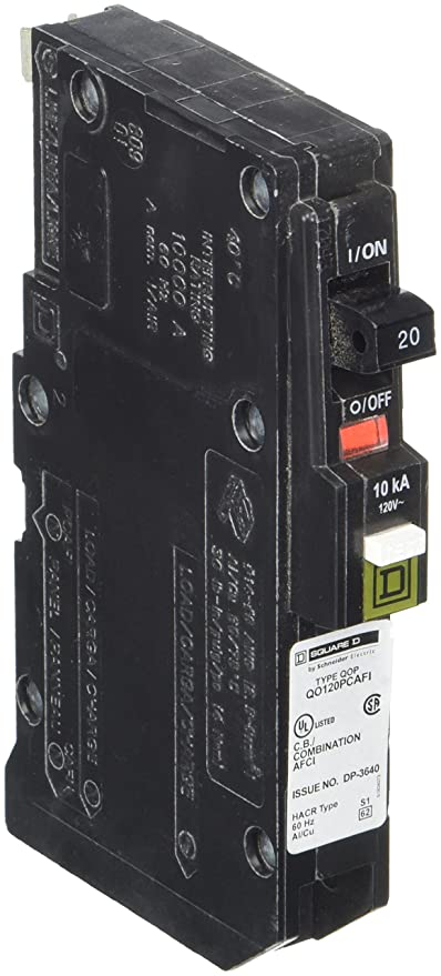 Square D by Schneider Electric QO120PCAFI 20-Amp Single-Pole Plug-On ...