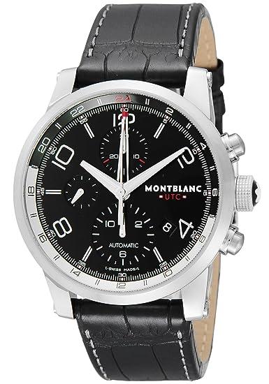 Montblanc Reloj de hombre automático 43mm correa de cuero de cocodrilo 107336: Amazon.es: Relojes