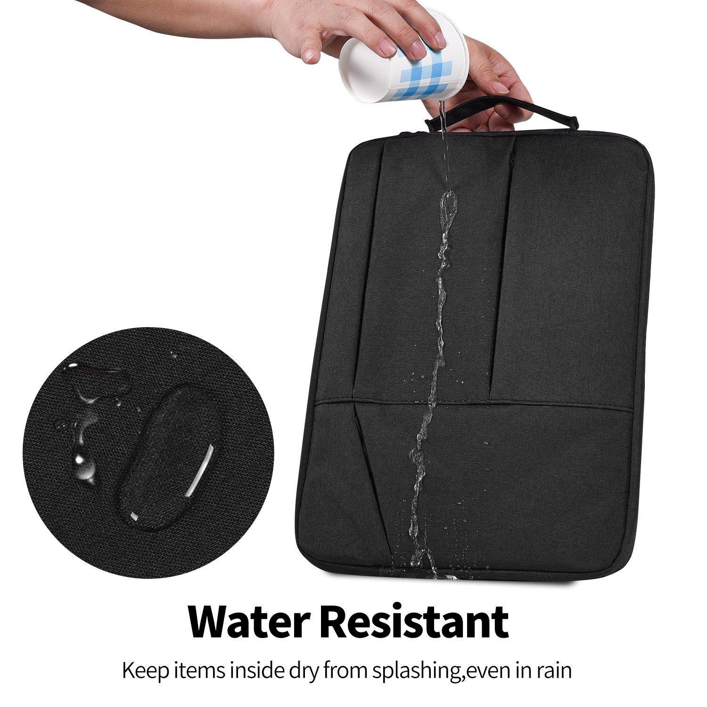 15.6 Inch Waterproof Shockproof Laptop Briefcase Bag Fit Acer Aspire E 15//Predator Helios 300//Chromebook 15 MSI GS65 Lenovo Yoga 730 15.6 ASUS F510UA Dell Inspiron HP Samsung Protective Bag,Black