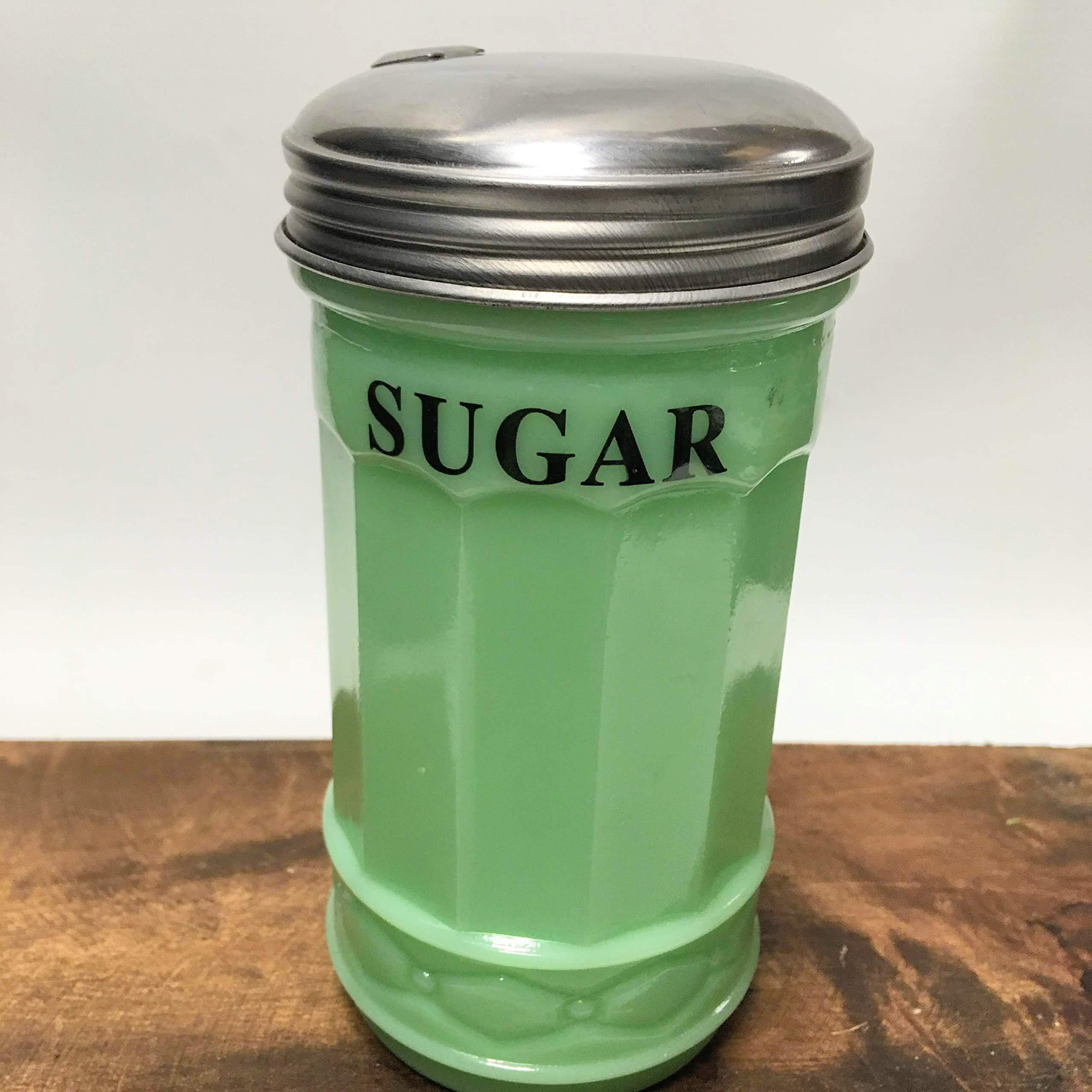 Jadeite Glass SUGAR Pourer with Spout - Retro Vintage Style Kitchen by Generic