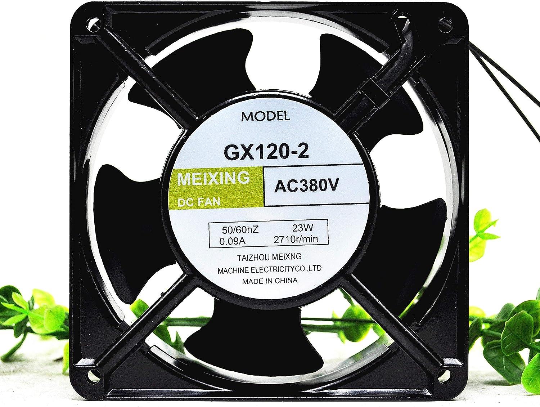 for MEIXING GX120-2 380V 0.09A 23W 12CM 12038 Ball Axial Cooling Fan
