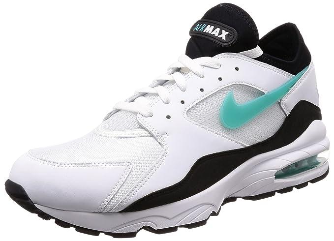 free shipping 1ca53 0a24f Nike Scarpe Uomo Sneakers Air Max 93 in Pelle Bianca 306551-107: Amazon.it:  Scarpe e borse
