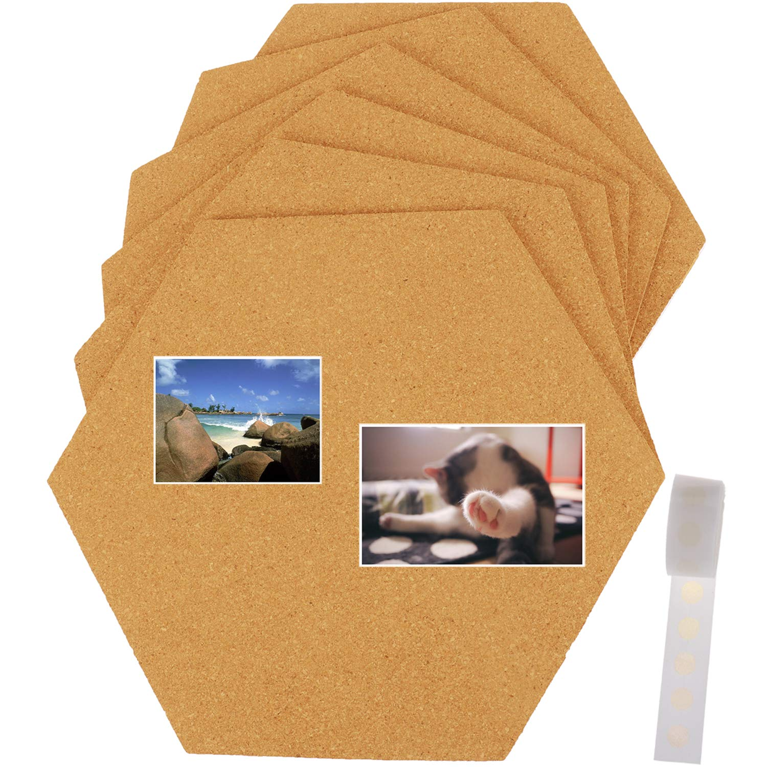 Amazon Com Xgood 6 Pack Cork Tiles Hexagon Cork Board With Full