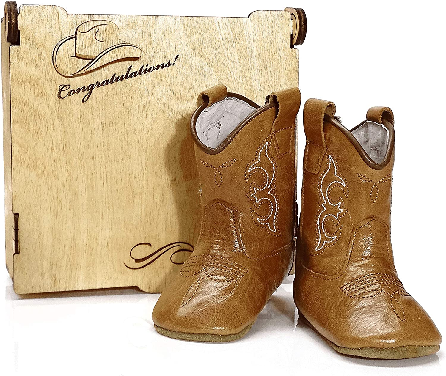 MAMTAKON Baby Cowboy Boots Real Leather