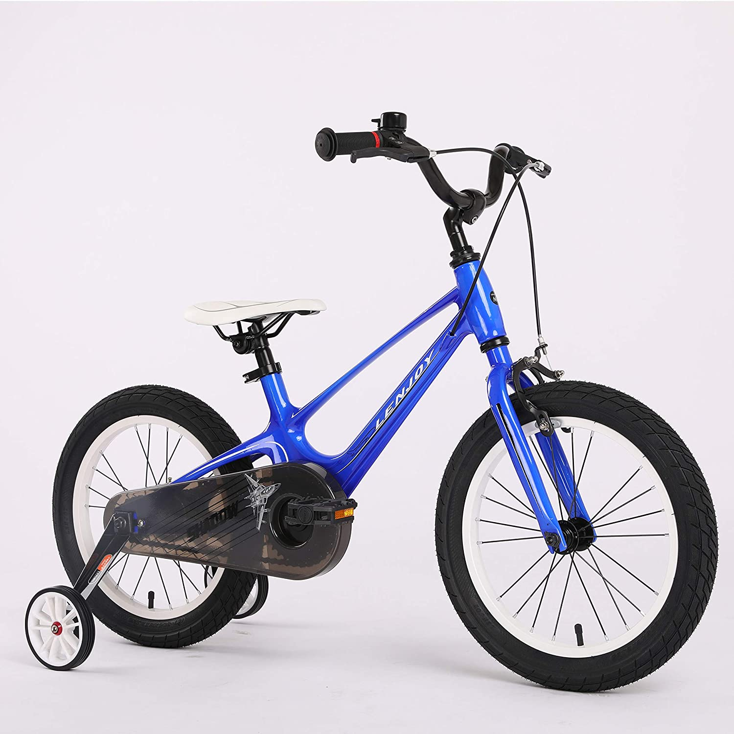FOUJOY Kids Bike Magnesium Alloy Frame Children Bicycle 16 Inch with Training Wheels for 4-8 Years Old Children Blue