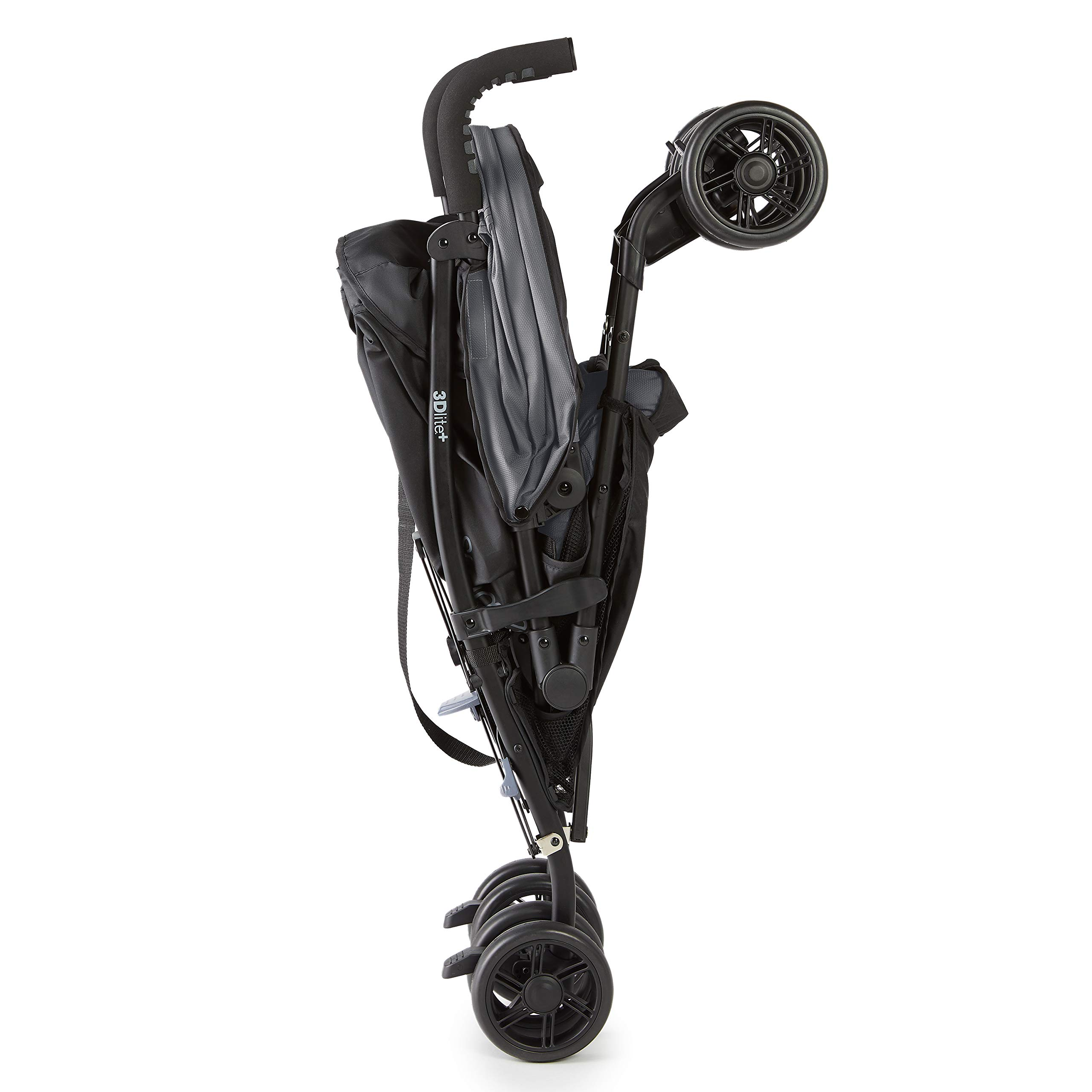 Summer 3Dlite+ Convenience Stroller, Matte Gray - Lightweight Umbrella Stroller with Oversized Canopy, Extra-Large Storage and Compact Fold by Summer Infant (Image #8)