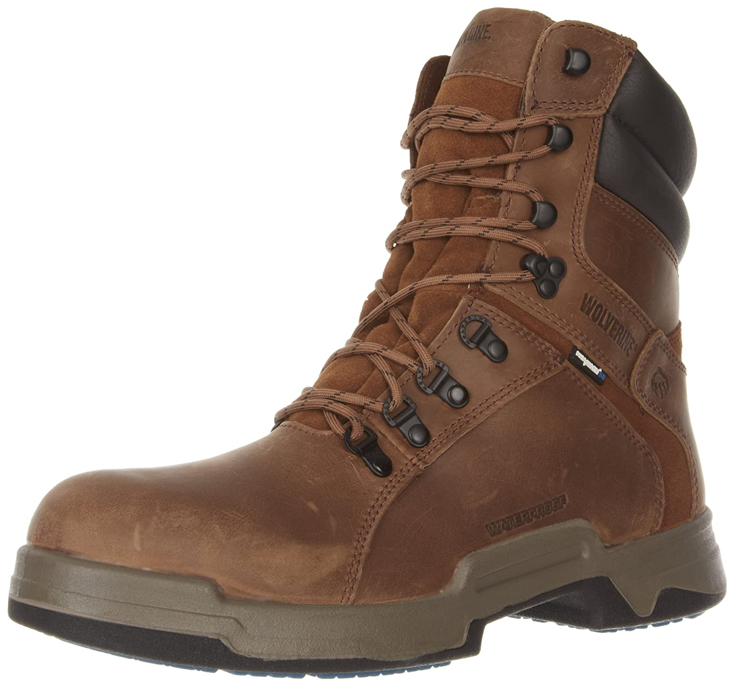 4e09097152e Amazon.com: Wolverine Men's Griffin 8-Inch Waterproof Work Boot: Shoes