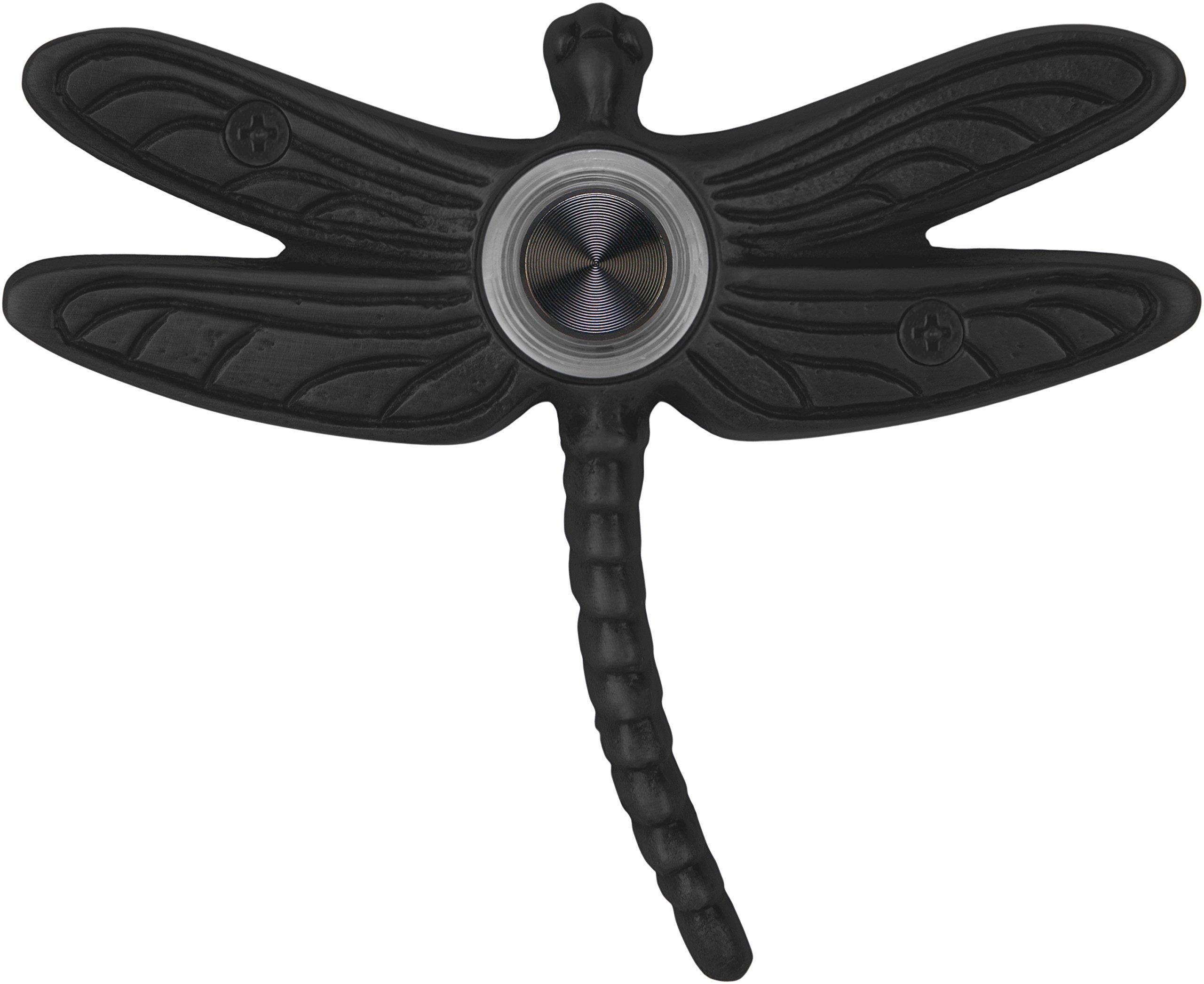 Waterwood Solid Brass Summer Dragonfly Doorbell in Black