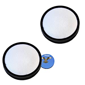 HQRP 2- Pack Washable Pre-Motor Filter for Dirt Devil UD70250BCA Dash Upright with Vac+Dust Floor Tool Plus Coaster