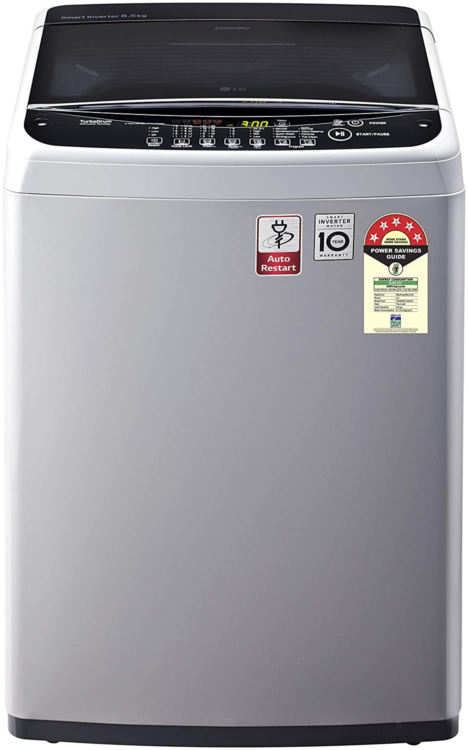 LG 6.5 Kg 5 Star Smart Inverter Fully-Automatic Top Loading Washing Machine