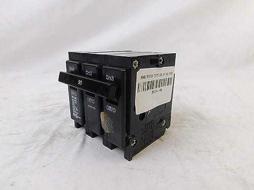 Eaton BR350 Plug-On Mount Type BR Circuit Breaker 3-Pole 50 Amp 240 Volt AC