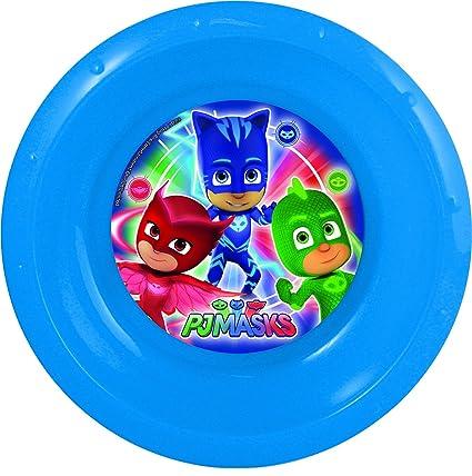 BBS PJ Masks Plato Hondo, Plástico y Polipropileno, Azul y Rojo, 16.5x16