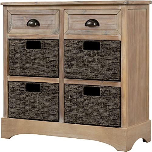 Knocbel Home Collection Wicker Storage Cabinet