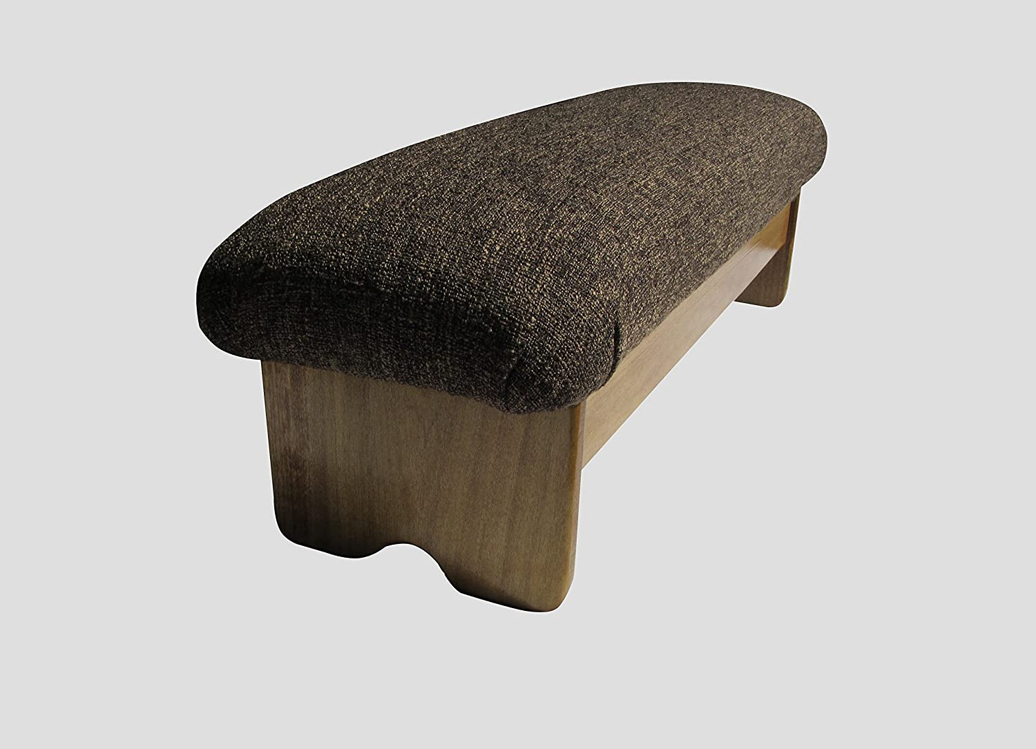 """KR Ideas Bedside Padded Foot Stool, Maple Stain 9"""" Tall (Made in The USA) (Cocoa Brown - 9"""" Maple)"""