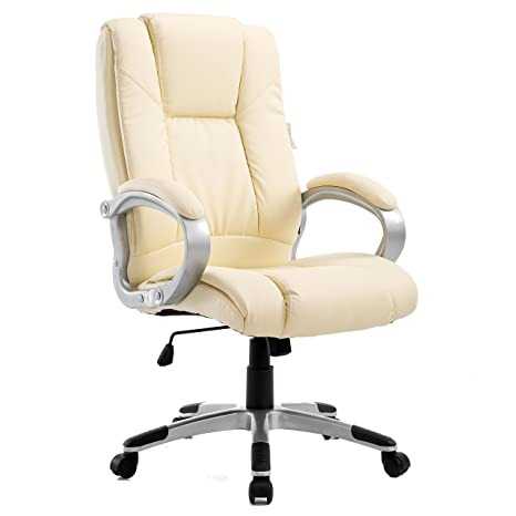 CTF High Back PU Leather Extra Padded Swivel Executive Chair MO58