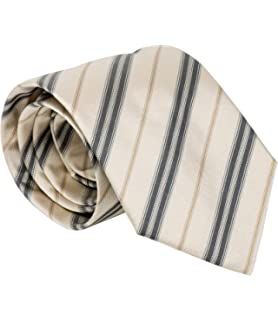 fe792fe4948f Burberry Woven Embroidered Equestrian Pattern Wide Cut Mens Silk Necktie