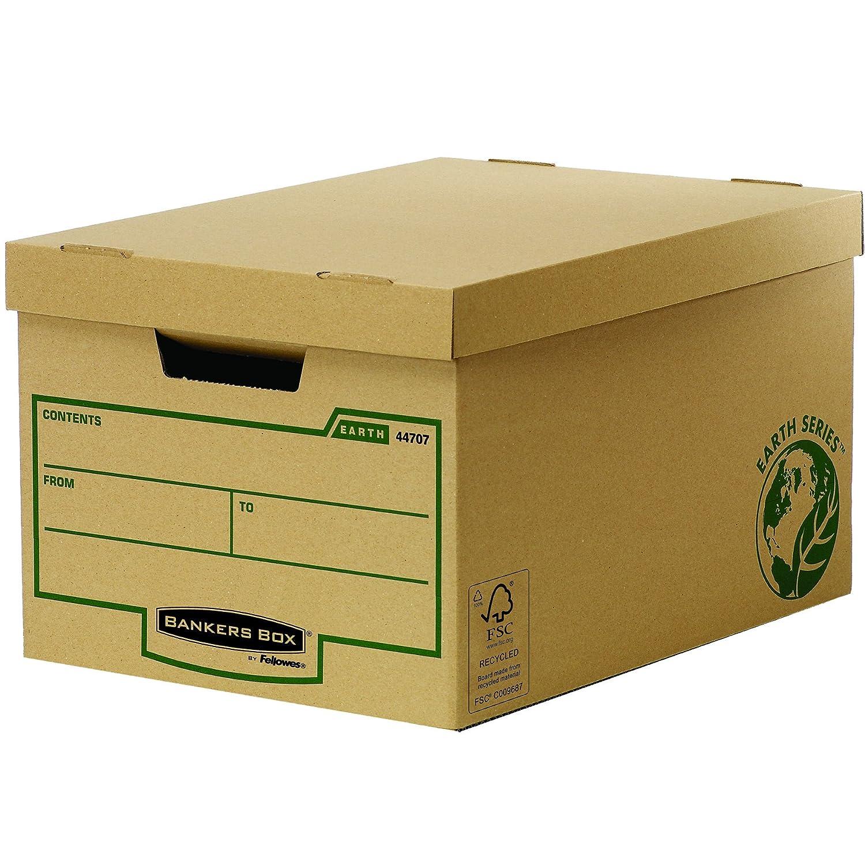 Bankers Box 4470701 Scatola Archivio Grande Earth Series, FSC, Confezione da 10 Pezzi Fellowes