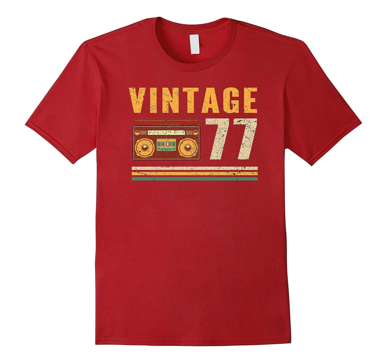 Vintage 77 40 Years Old 40th Birthday Gift Tshirt BN Banazatee