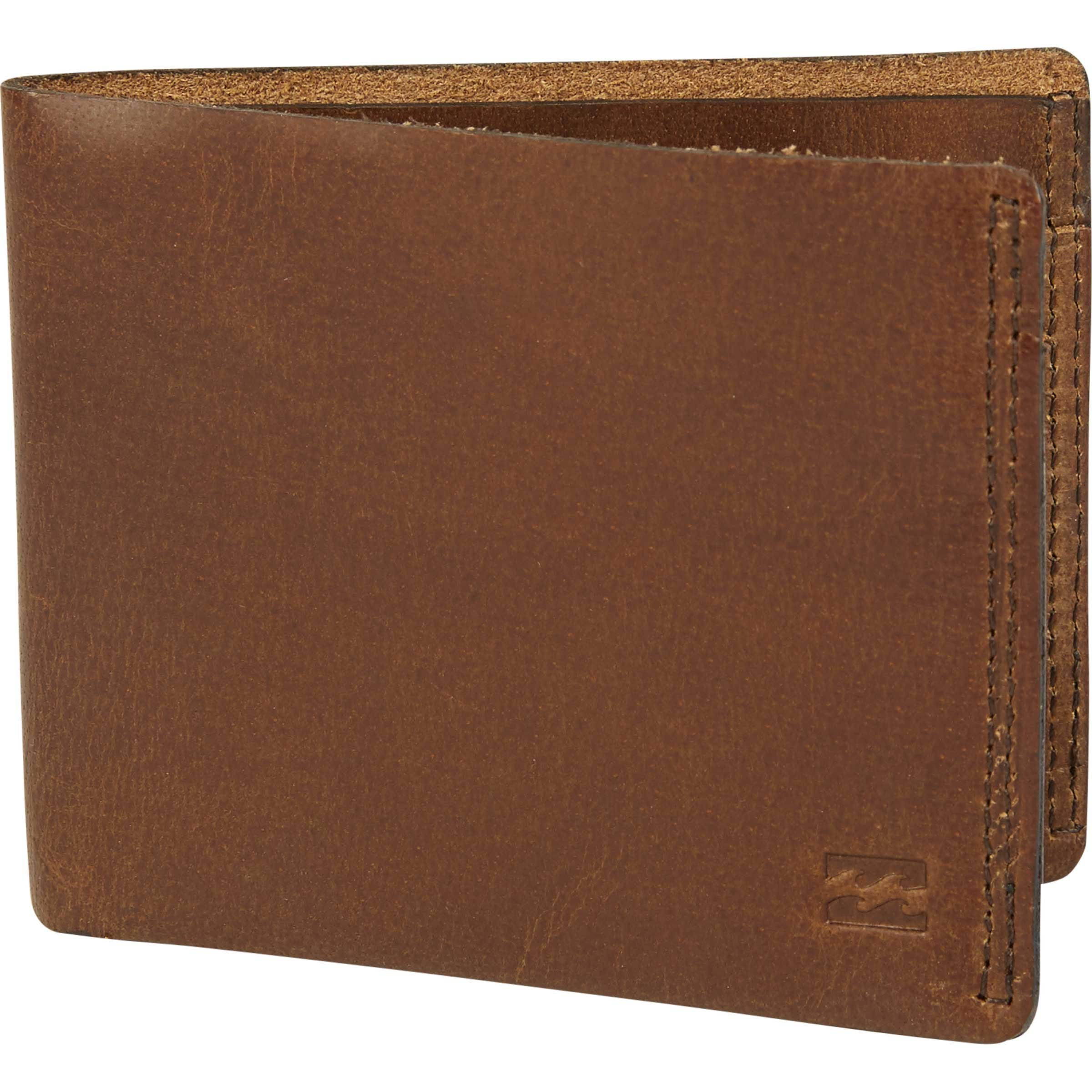 Billabong Men's All Day Leather Wallet, Brown, One