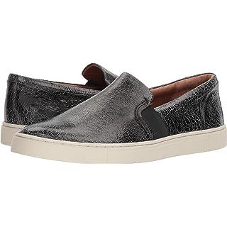 FRYE Women's Ivy Slip Sneaker, Metallic Black, 9 M US