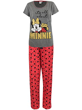 f23ae8a222 Disney Womens  Minnie Mouse Pajamas Size Large at Amazon Women s ...