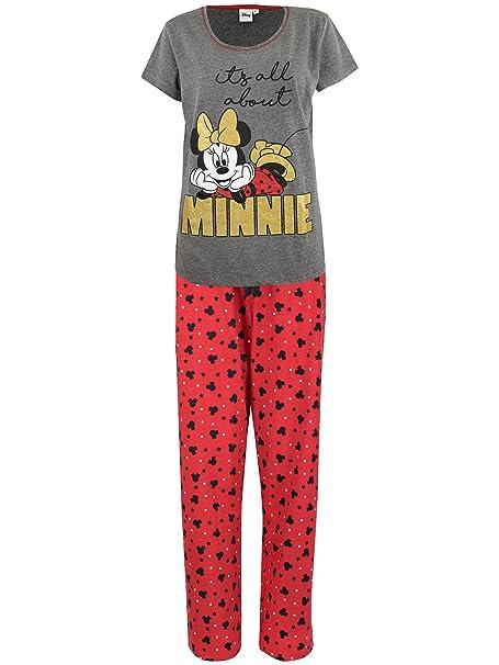 Disney Pijama para Mujer - Minnie Mouse - Rojo - Small