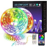 Ledstrip, 30 m, RGB, ledstrip, kleurverandering, ledband, ultralang, bluetooth, 540 leds, 5050 SMD, zelfklevende…