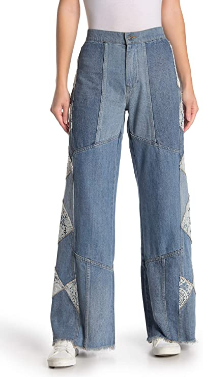 Flare Jeans for women Patchwork Jeans Fashionable Wide Leg Jeans