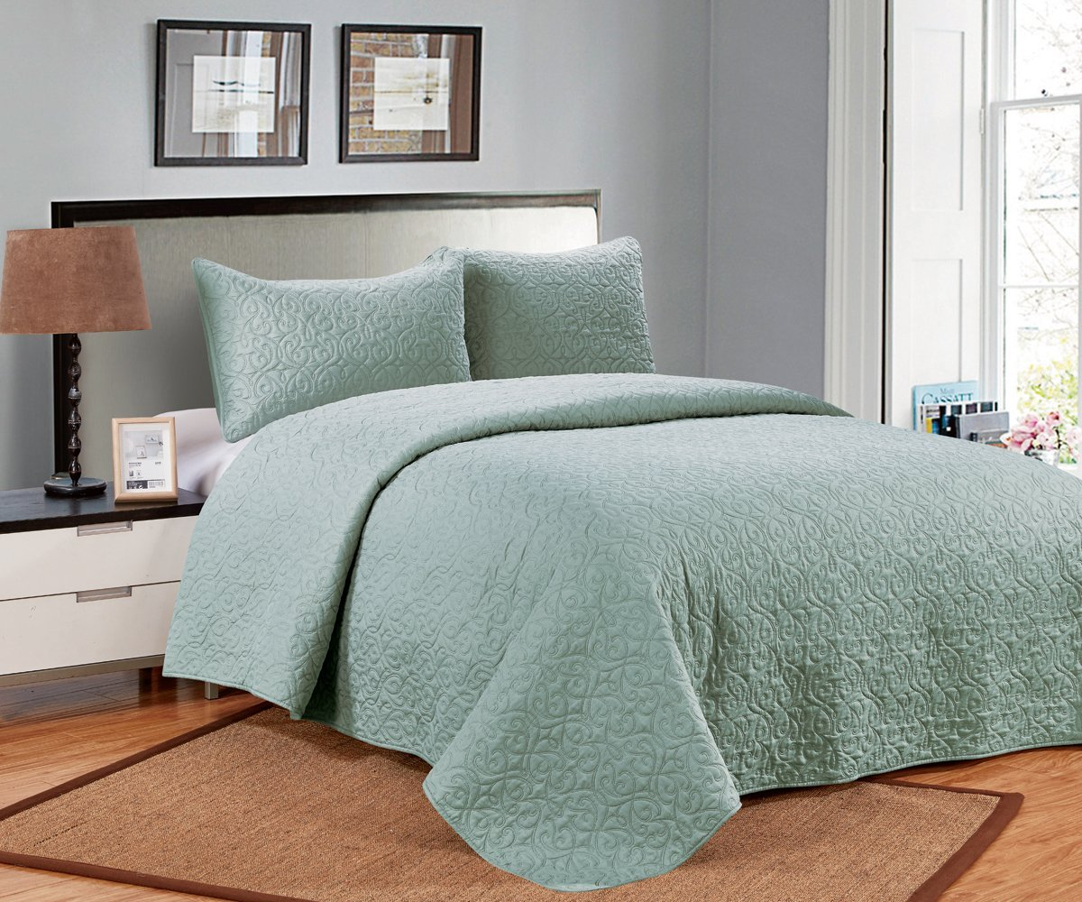 3 PC Solid Color Soft Quilt Set