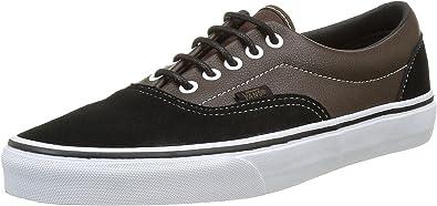 Vans Men's Shoes Era Black/Brown Suede