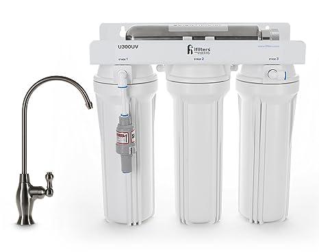 u300uv ultravioleta UV filtro de agua potable sistema de filtración purificador 4 etapa final y esterilizar