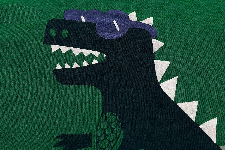 Kinder Jungen Schlafanzüge Dinosaurier Nachtwäsche Lange Ärmel Pjs Set Pyjamas für Kinder Kleinkind Größe 2-3 Jahre 3T