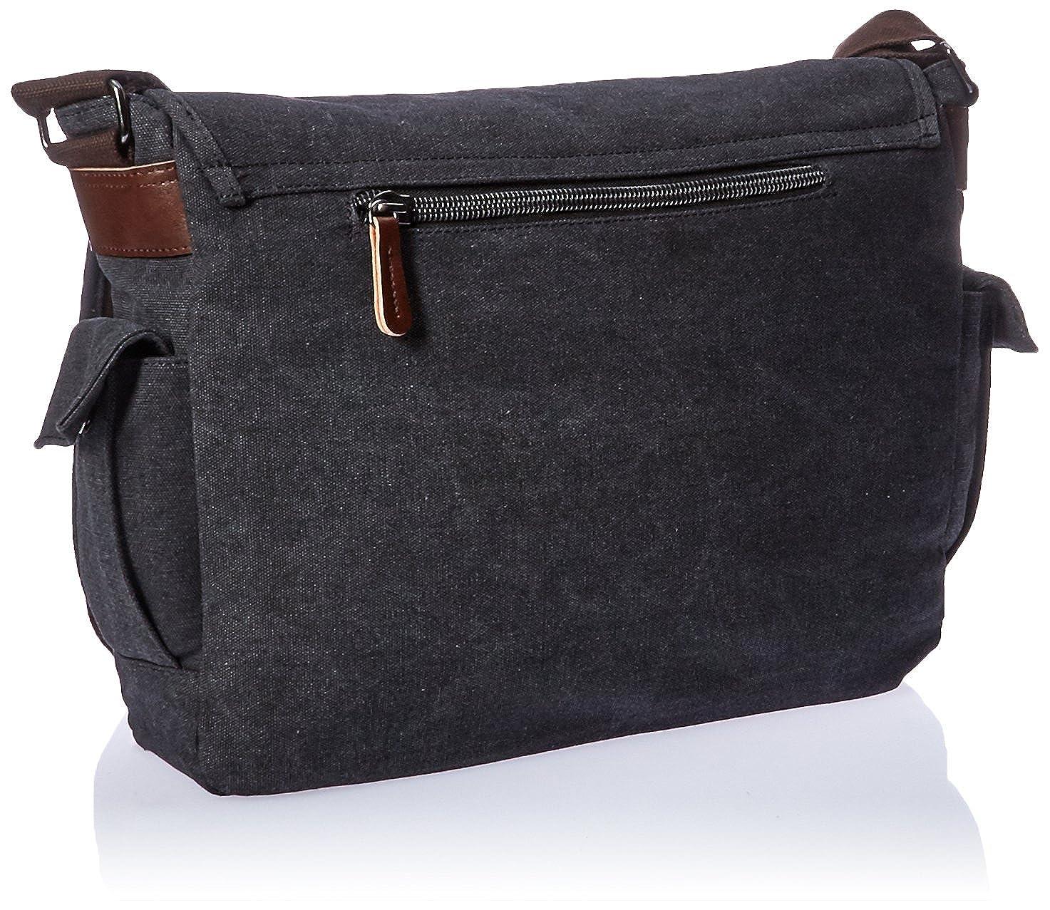 635483a1ca Amazon.com  ZUOLUNDUO Vintage Canvas Laptop Messenger Bag School Bag ...