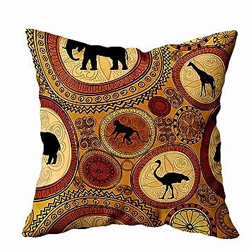 Amazon.com: ROOLAYS - Funda de almohada cuadrada decorativa ...